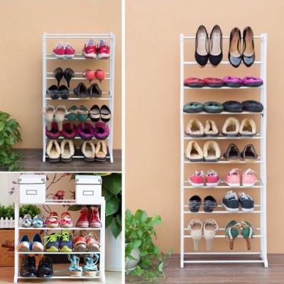 ชั้นวางรองเท้า 10 ชั้น 30 คู่ ถอดประกอบได้ ตามความสูงที่ต้องการ คละสี