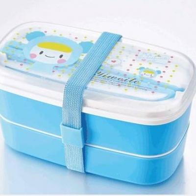 สินค้าแลกซื้อ กล่องข้าวสำหรับเด็ก 2 ชั้น ลายหมีสีฟ้า