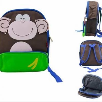 สินค้าแลกซื้อ กระเป๋าเป้ลิงสีน้ำตาล-เขียว