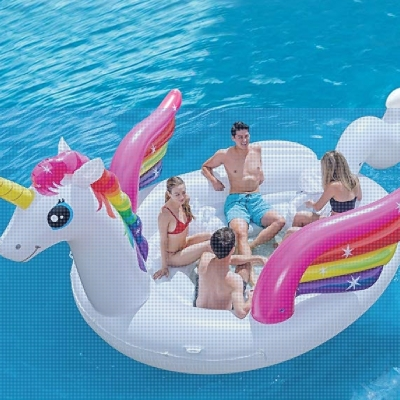 INTEX แพเป่าลม Unicorn Party Island