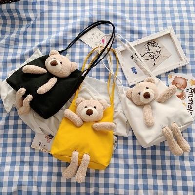 กระเป๋าสะพายข้างตุ๊กตาหมี มี3 สี