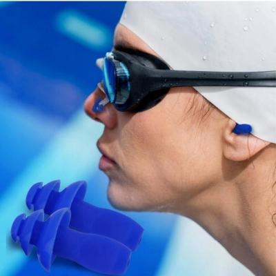 ที่อุดหู ที่หนีบจมูก Ear Plugs & Nose Clip Combo Set สำหรับว่ายน้ำ