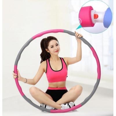 ฮูล่าฮูป แบบลูกคลื่น สีชมพู-เทา