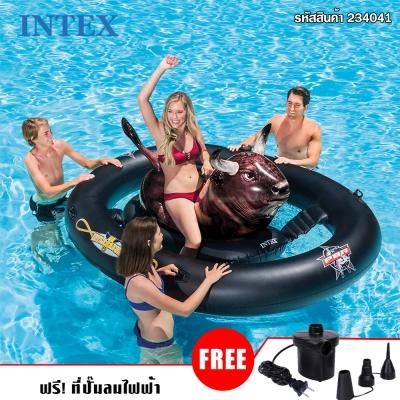 intex 56280 INFLATABULL แพยาง ลายวัวน้ำตาลดำ(แถมปั๊มสูบลมไฟฟ้า)