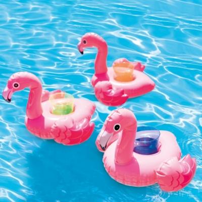 INTEX ของเล่นในน้ำ Flamingo Drink Holders (3 ชิ้น/แพ็ค)