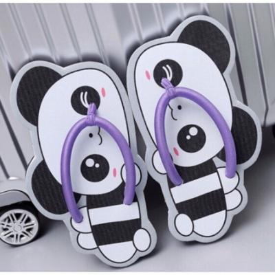 รองเท้าแตะ รูปหมีแพนด้า สีขาว-ดำ