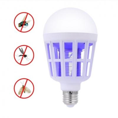 หลอดไฟ LED ดักจับยุง สีขาว