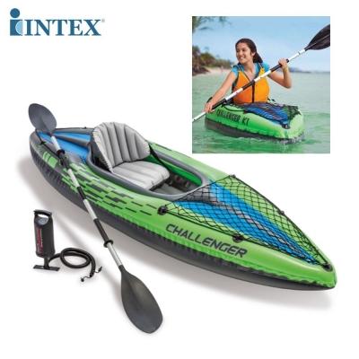 INTEX เรือคายัค เรือยางเป่าลม พร้อมพายและที่สูบลมมือ Challenger K1 Kayak - Inflatable Boat