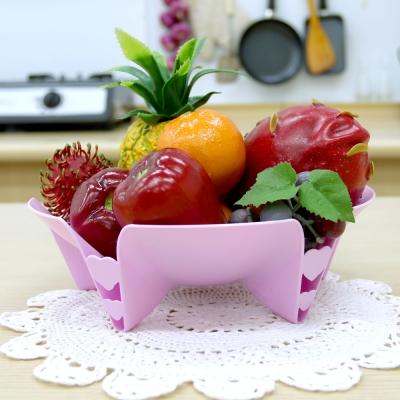 ถาดใส่ผักผลไม้พร้อมไม้จิ้มสี