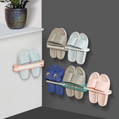 ที่ใส่รองเท้าแตะติดผนัง ใช้ในห้องน้ำ วางรองเท้าได้ 3 คู่ มี 4 สี