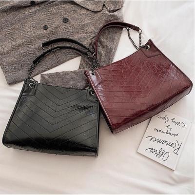 กระเป๋าสะพายข้างใบใหญ่ เรียบหรู  มี 4 สีให้เลือก