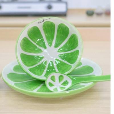 ชุดเซ็ทเซรามิค ลายส้มโอ 3ชิ้น/ชุด