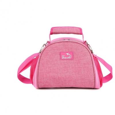 กระเป๋าเก็บอุณหภูมิ ทรงหมอนพร้อมสายสะพาย สีชมพูนะคะ