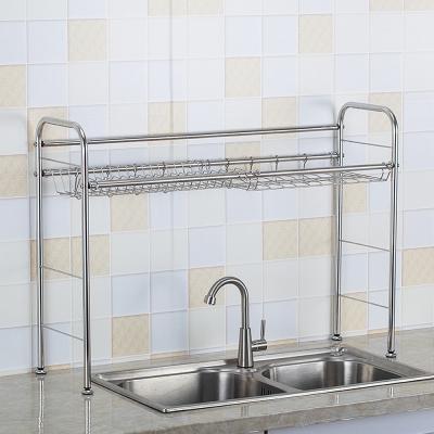 ชั้นวางของสแตนเลสหน้าอ่างล้างจาน  (ประกอบเอง)