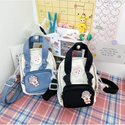 กระเป๋าเป๋ทูโทน สติกเกอณืน้องหมี+เด็กผู้หญิง มี 5 สี