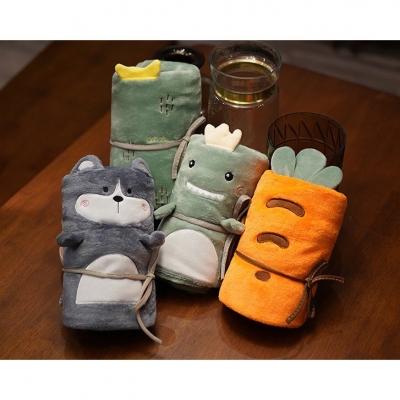 ตุ๊กตาลายสัตว์ผ้าห่มนาโน แบบพกพา คละลาย มี 3 แบบ