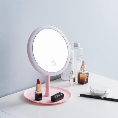 กระจกตั้งโต๊ะ มีไฟ LED ปรับความสว่างได้ มี 2 สี