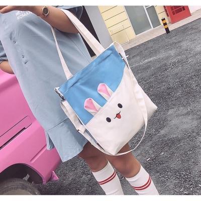 กระเป๋าผ้าลายกระต่าย  มี 3 สี