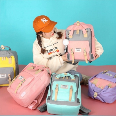 กระเป๋าเป้มาใหม่ สไตล์นักเรียนเกาหลี  มี 14 สี