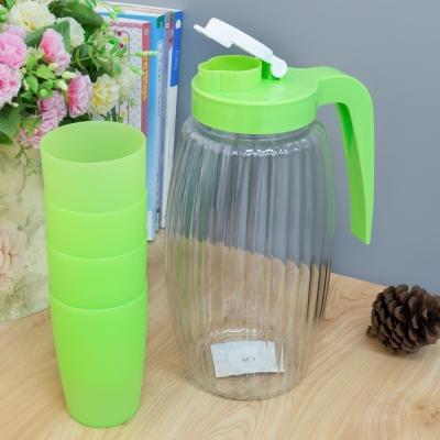 เหยือกน้ำพร้อมแก้ว 5 ชิ้น/ชุด สีเขียว