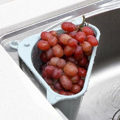 ตะกร้าอเนกประสงค์ ช่วยกรองเศษอาหาร มาพร้อมตัวดูดสูญกาศ สีฟ้า (A0201)