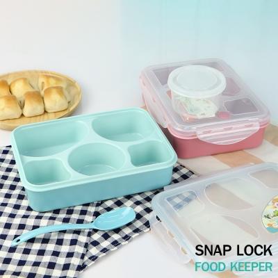 กล่องบรรจุอาหาร  5 ช่อง  คละสี มี 2 สี