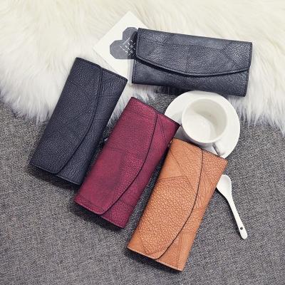 กระเป๋าสตางค์ผู้หญิงแบบถือ ทรงไฮโซ มี 4 สี