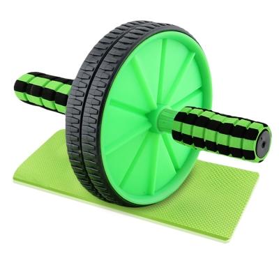 ล้อหมุนบริหารกล้ามท้องพร้อมที่รองเข่า สีเขียว-ดำ