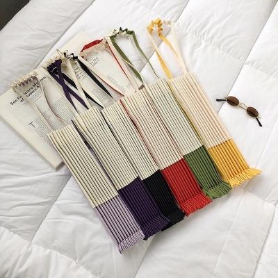กระเป๋าผ้าทรงพัด พับได้ รุ่นใหม่ มี 6 สี