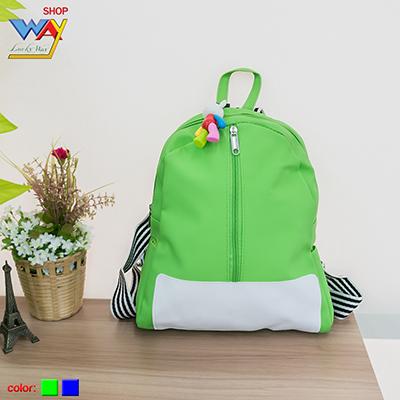 กระเป๋าเป้เด็กแต่งซิปหน้า คละสี