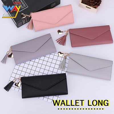 กระเป๋าสตางค์ กระเป๋าเงินผู้หญิง No.Liushu-Changqianbao คละสี