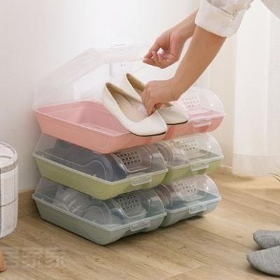 กล่องรองเท้ามีฝาปิด-เปิด แบบแข็ง พร้อมรูระบายอากาศ มี 3 สี