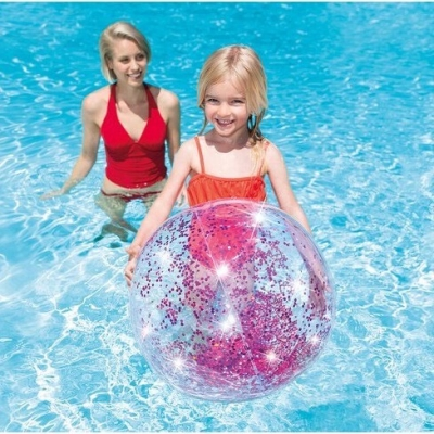 INTEX ลูกบอลเป่าลม Transparent Glitter Beach Balls (คละสีเลือกสีไม่ได้)