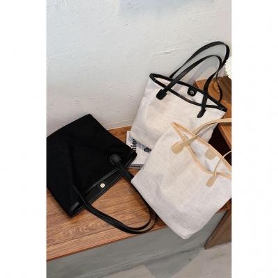 กระเป๋าผ้าแคนวาส ทรงเรียบแบบสะพาย มี 3 สี