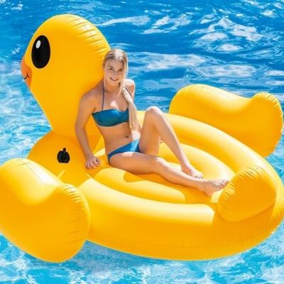 INTEX แพเป่าลม Mega Yellow Duck Island แพยางเป่าลม
