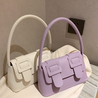 กระเป๋าถือ เข็มขัดคู่สีพลาสเทล มี 5 สี