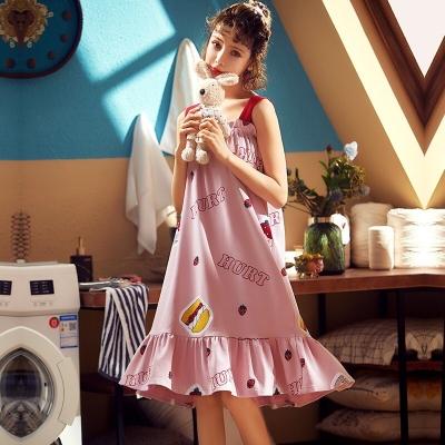 ชุดนอนเดรสสีชมพูคุณหนู มี 2 size