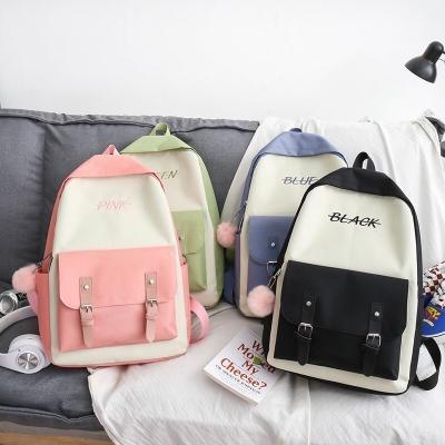 กระเป๋าเป้เซ็ท 5 ใบ สกรีนลายอักษร สีตามชื่อ มี 4 สี