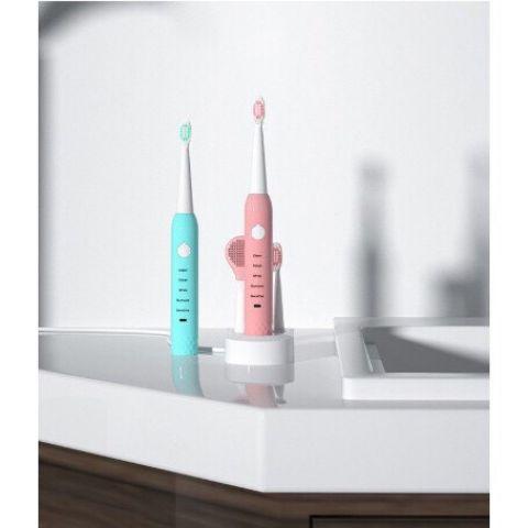 แปรงสีฟันเด็ก ไฟฟ้าอัลตราโซนิกชาร์จ USB มี 2 สี (มี 5 โหมด)
